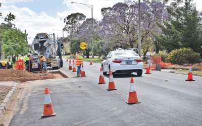 Crossing concern: Location of new Deakin Avenue pedestrian crossing questioned as works ramp up