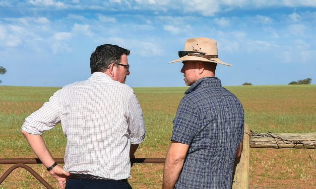 HELP AT LAST! Premier visits Millewa to offer drought support