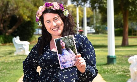 Local author celebrates her debut