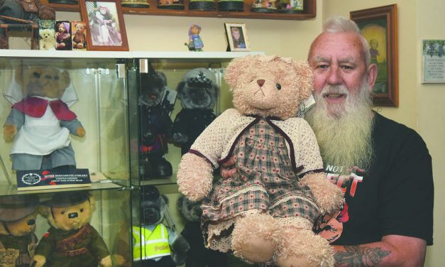 Hundreds of teddies look for new home
