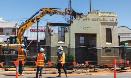 Chunk by chunk, Old '36 comes tumbling down