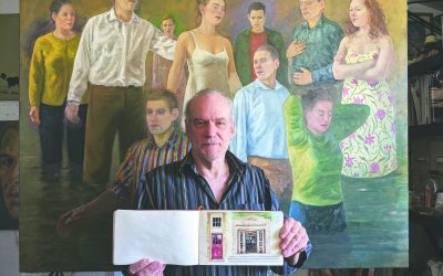 Artist's colourful tribute to home town