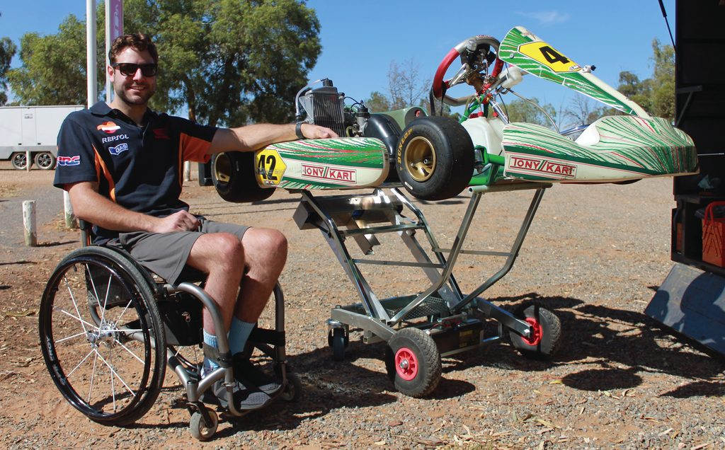 Harry Lynch overcomes challenge on track