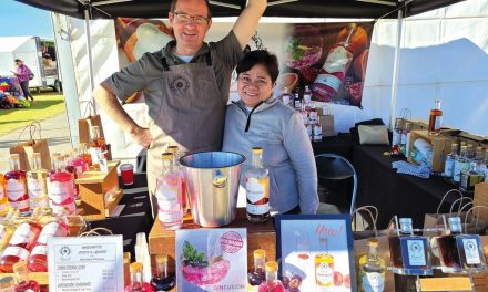 Colourful gin producer takes field days stand