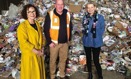 Minister wastes no time praising recycling efforts